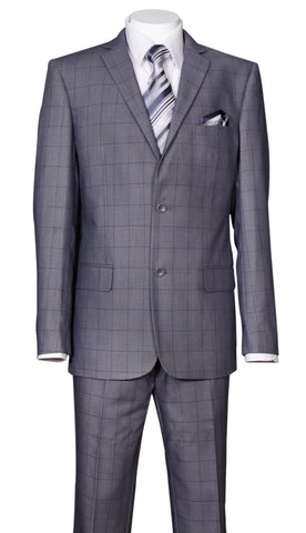 Fortino Landi Men Suit 570203-Grey