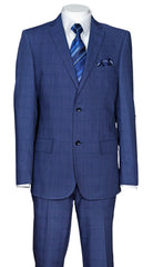 Fortino Landi Men Suit 570203-Navy - Church Suits For Less