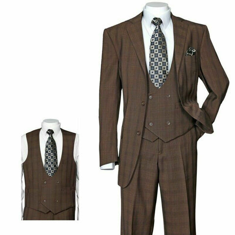Fortino Landi Suit 5702V6-Brown - Church Suits For Less