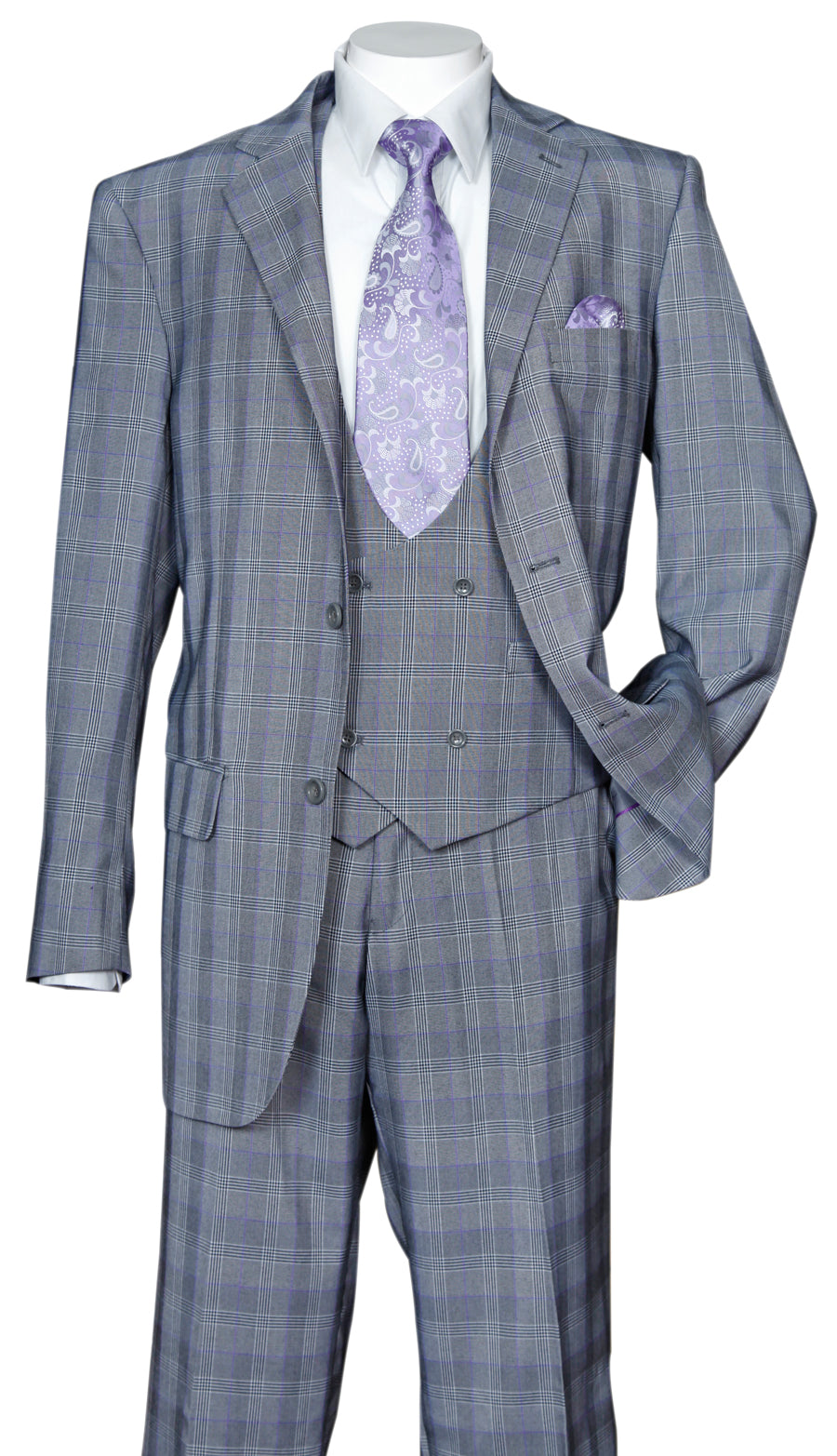 Fortino Landi Suit 5702V6-Grey - Church Suits For Less