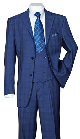 Fortino Landi Suit 5702V6-Navy - Church Suits For Less