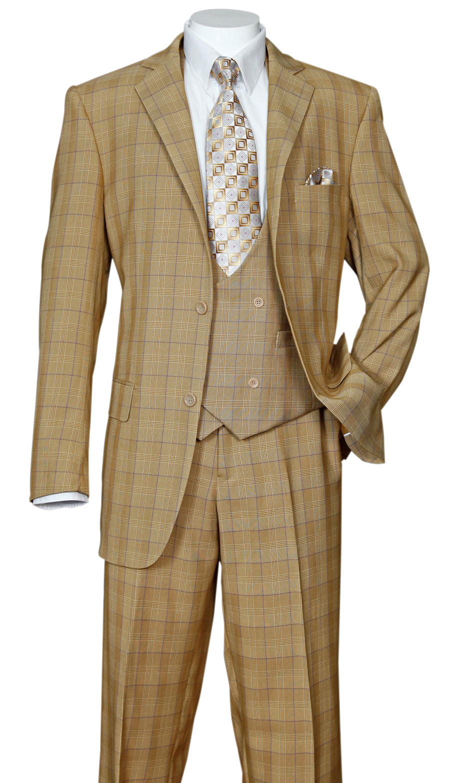Fortino Landi Suit 5702V6-Tan - Church Suits For Less