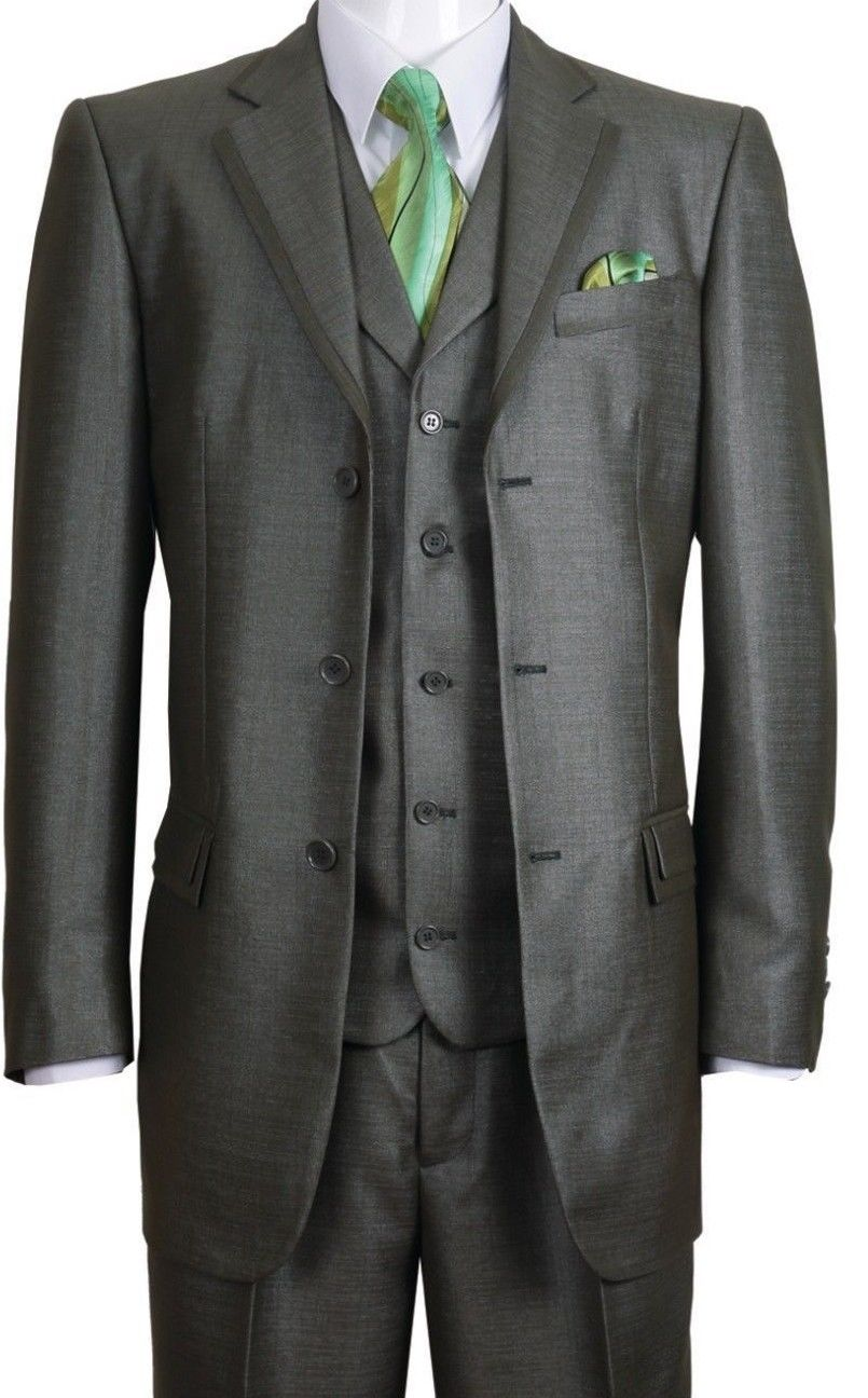 Fortino Landi Men Suit 5909V-Olive - Church Suits For Less