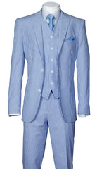 Fortino Landi Men Suit ST702V-Blue - Church Suits For Less