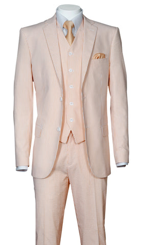 Fortino Landi Men Suit ST702V-Peach - Church Suits For Less