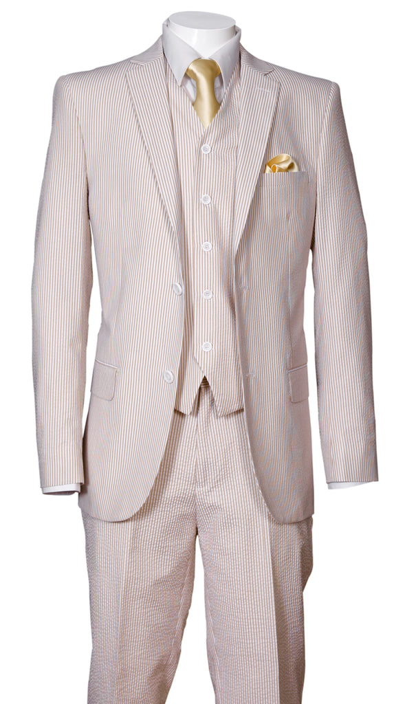 Fortino Landi Men Suit ST702V-Tan - Church Suits For Less