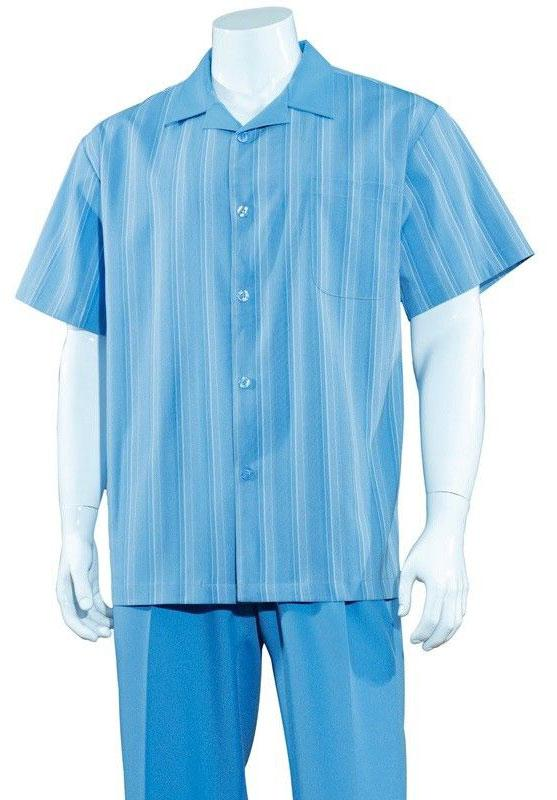 Fortino Landi Walking Set M2966-Blue - Church Suits For Less