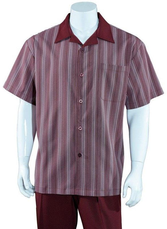 Fortino Landi Walking Set M2966-Burgundy - Church Suits For Less