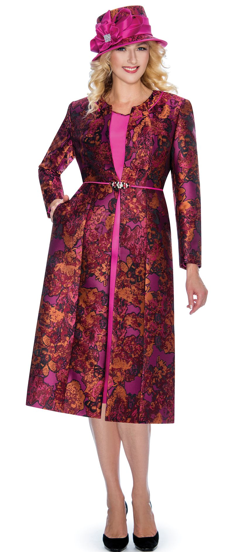 Giovanna Dress G1062-Fuchsia - Church Suits For Less