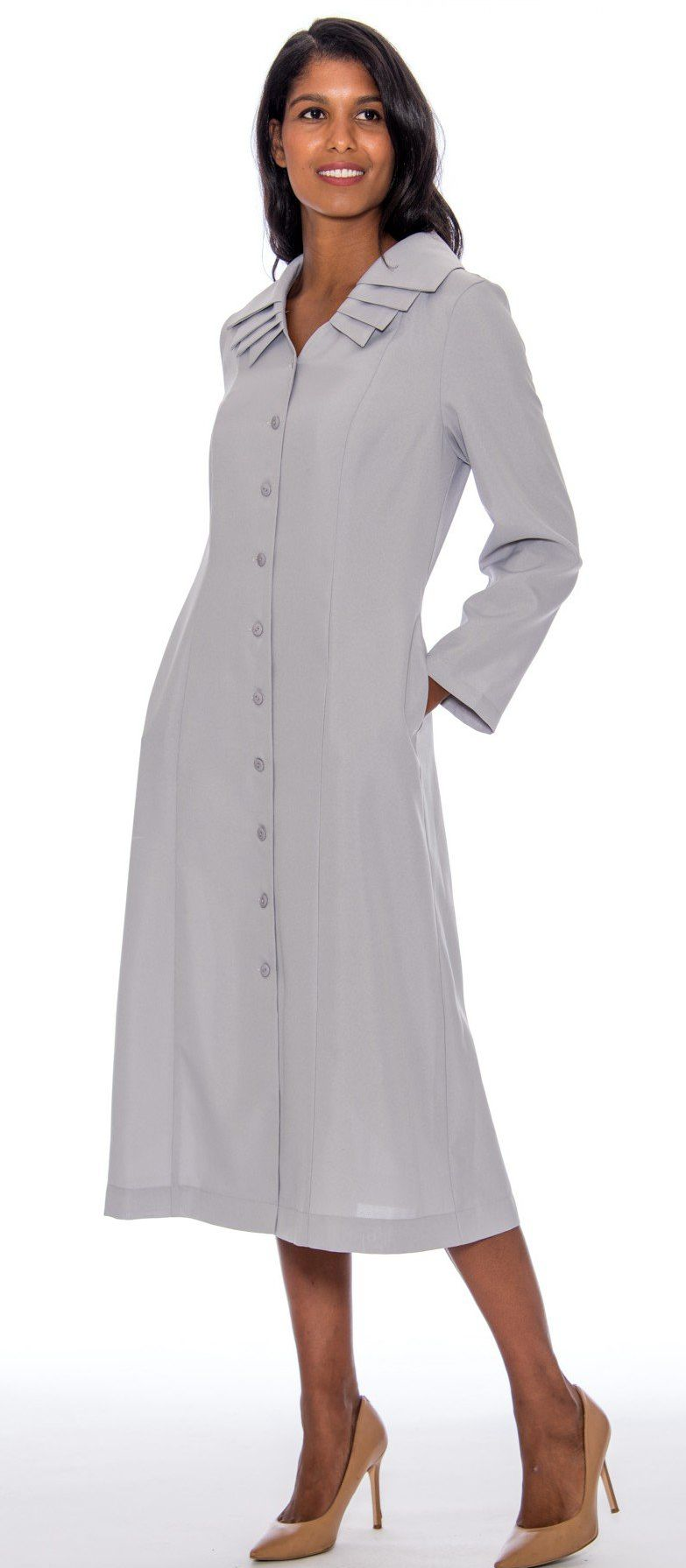 GMI Usher Dress 11721-Silver - Church Suits For Less