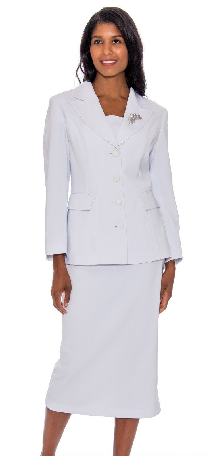 GMI Usher Suit 13382-White - Church Suits For Less