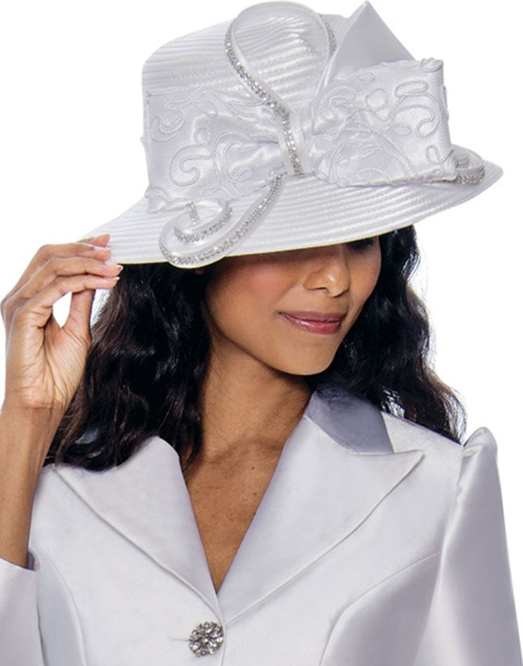 GMI Hat 8092-White - Church Suits For Less
