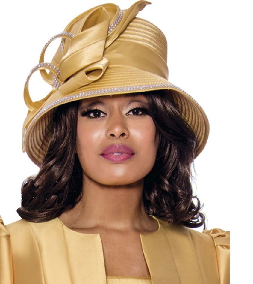GMI Hat 8203-Gold - Church Suits For Less