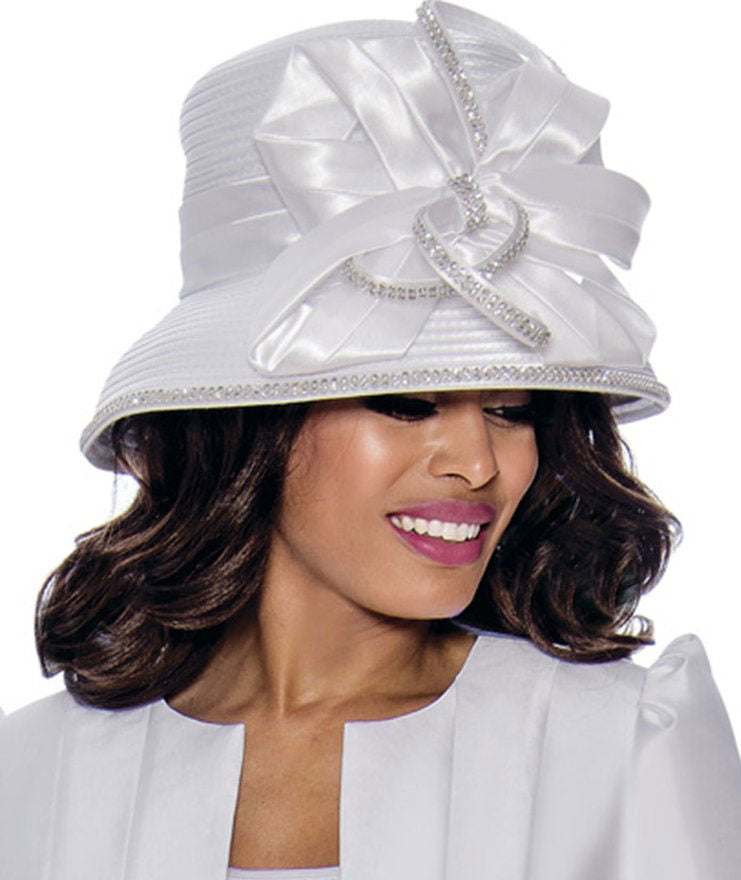 GMI Hat 8203-White - Church Suits For Less