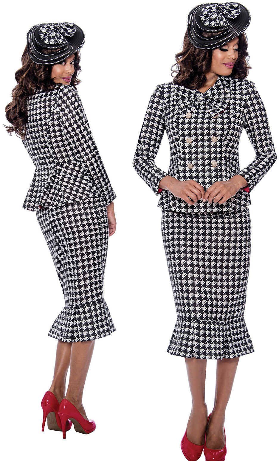 GMI Suit 8292-Black/White - Church Suits For Less