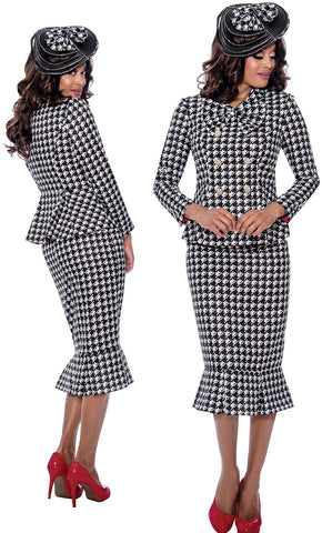 GMI Suit 8292-Black/White