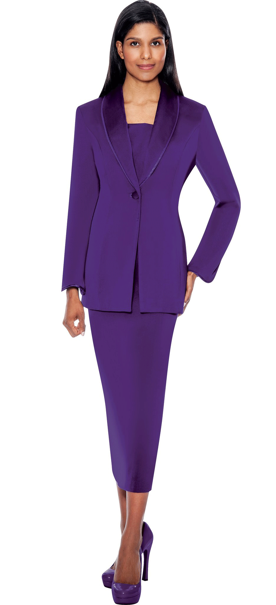 GMI Usher Suit 12272C-Purple - Church Suits For Less
