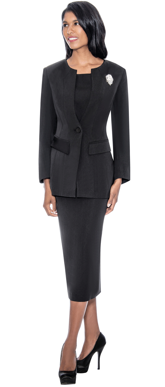 GMI Usher Suit G13393-Black - Church Suits For Less