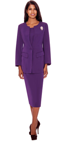 GMI Usher Suit G13393-Purple - Church Suits For Less