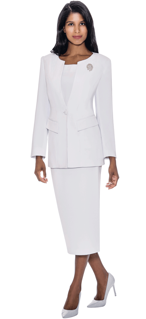 GMI Usher Suit G13393-White - Church Suits For Less
