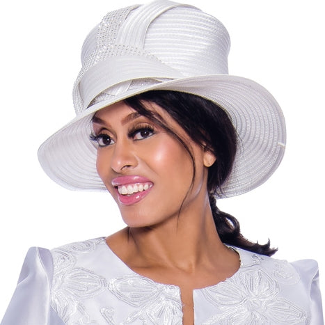 GMI Church Hat 7983-White - Church Suits For Less