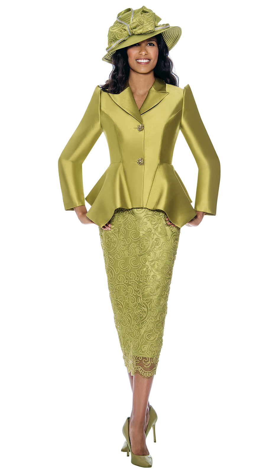 GMI Suit 8092-Green - Church Suits For Less
