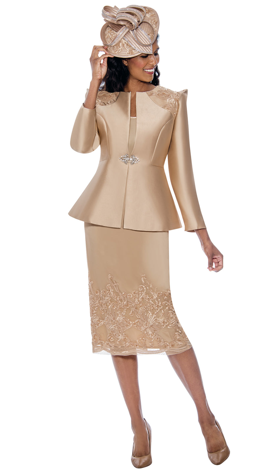 GMI Suit 8153-Champagne - Church Suits For Less