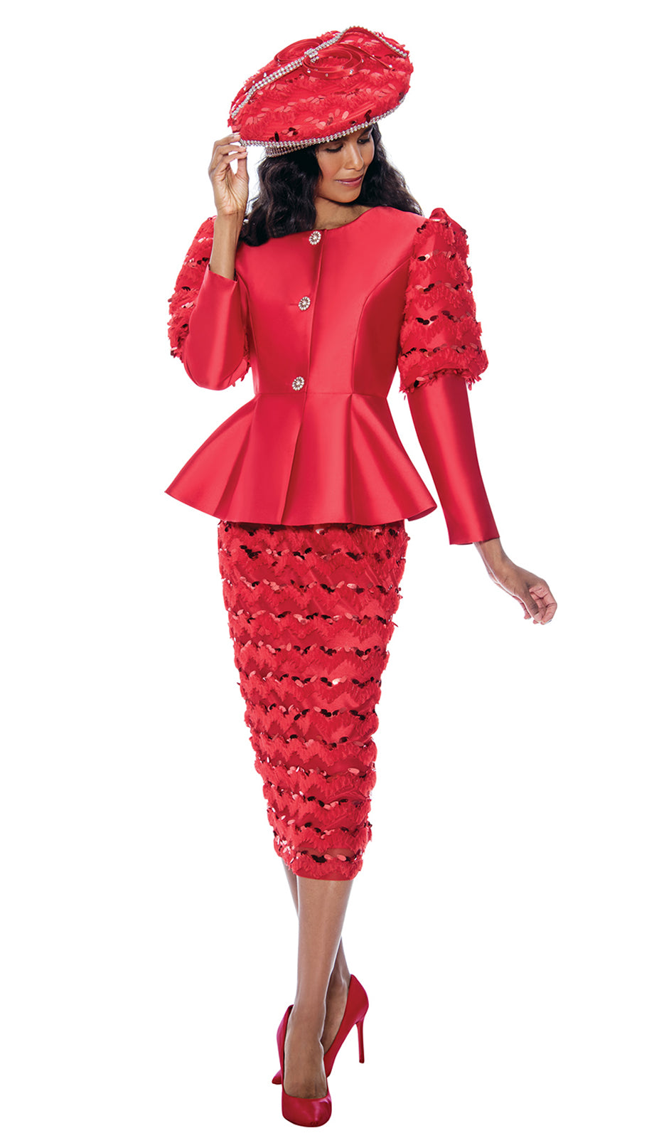 GMI Suit 8172-Red - Church Suits For Less