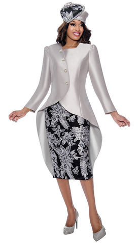 GMI Suit 8232-Black/Silver - Church Suits For Less