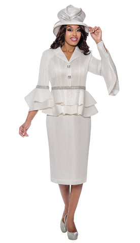 GMI Suit 8242-Off-White - Church Suits For Less