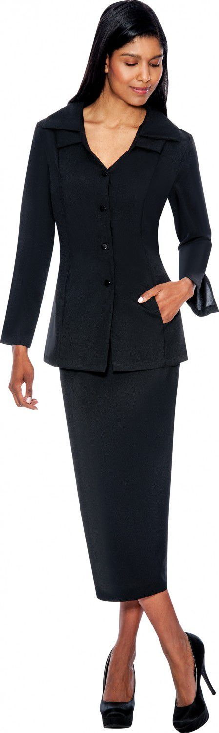 GMI Usher Suit 12777-Black - Church Suits For Less