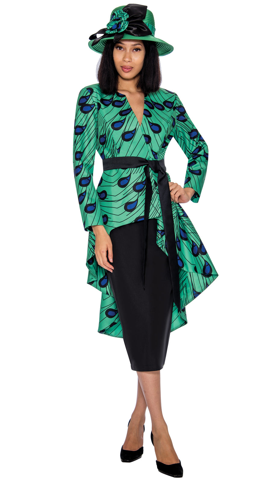 GMI Suit 7362H-Green Multi - Church Suits For Less