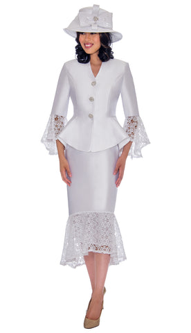 GMI Suit G7552-White - Church Suits For Less