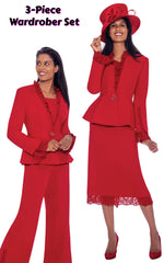 GMI Suit G7563-Red - Church Suits For Less