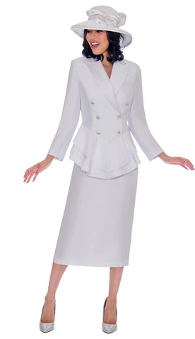GMI Suit G7612C-White - Church Suits For Less