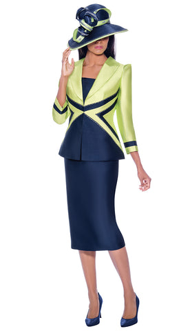 GMI Suit 7943C-Lime/Navy
