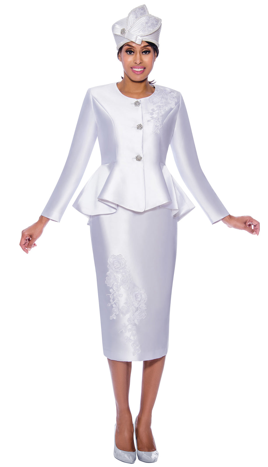 GMI Suit 8072-White - Church Suits For Less