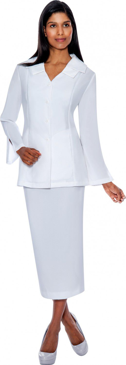 GMI Usher Suit 12777-White - Church Suits For Less