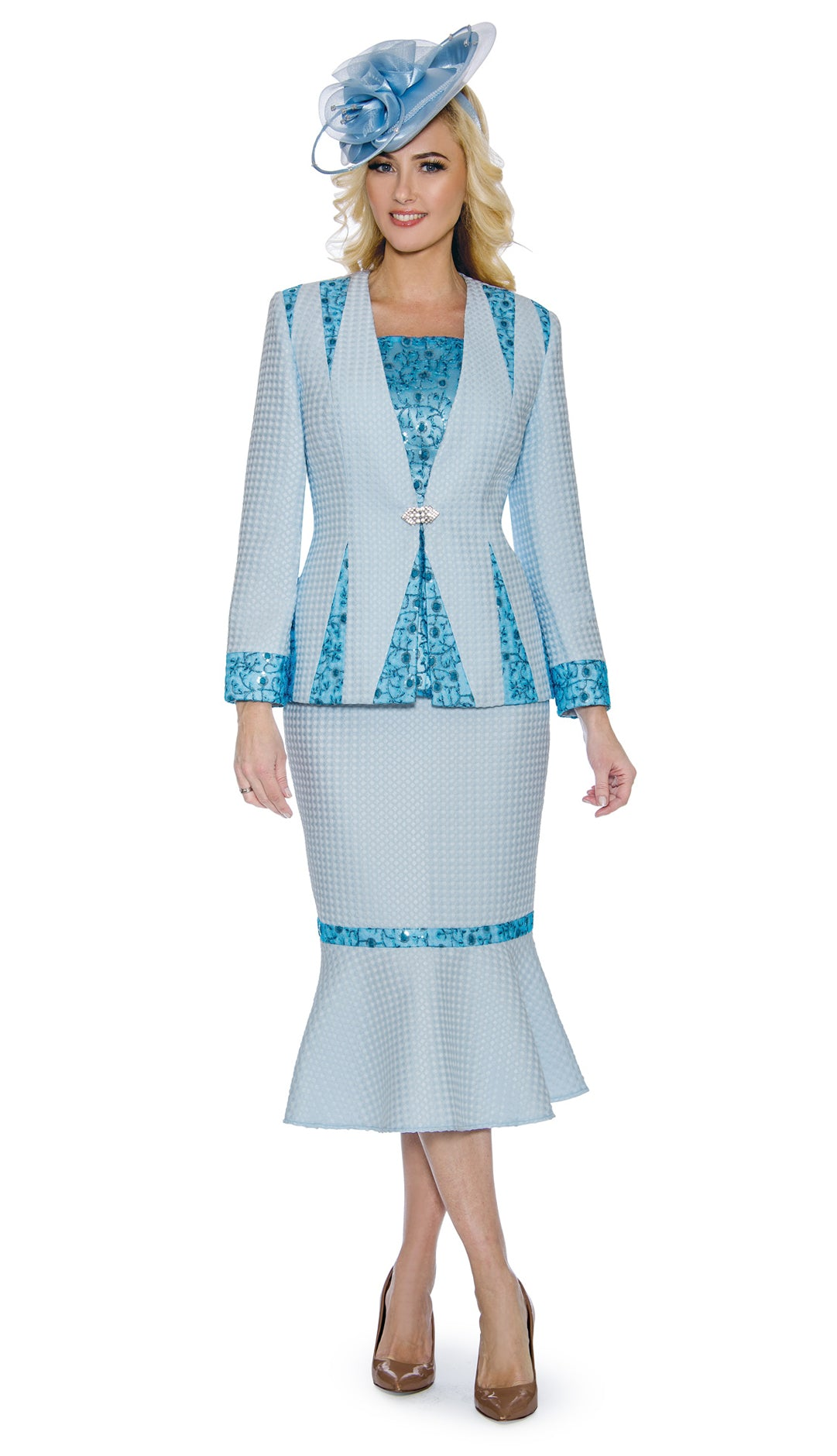 Giovanna Suit 0912-Blue - Church Suits For Less