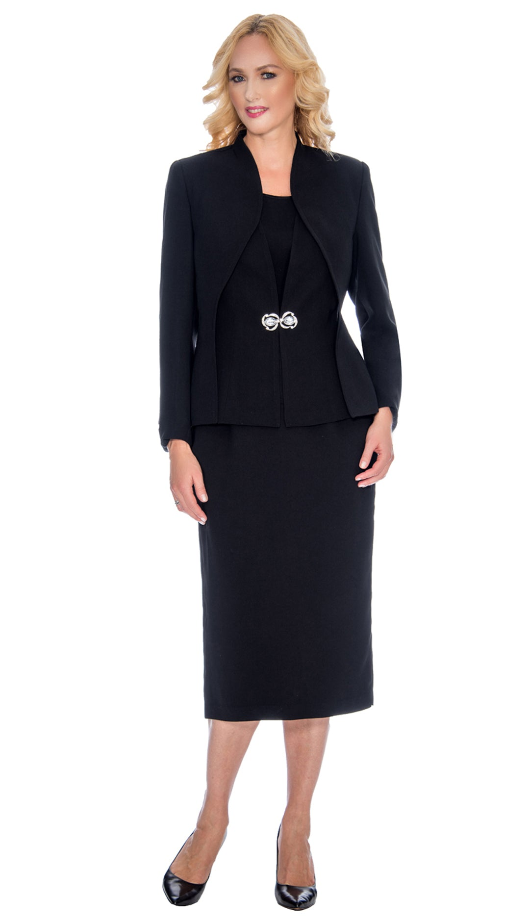 Giovanna Suit 0919-Black - Church Suits For Less
