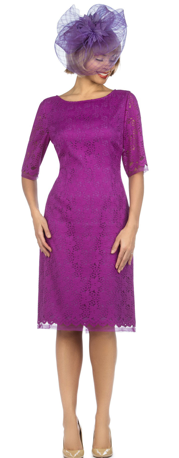 Giovanna Dress D1513-D. Violet - Church Suits For Less