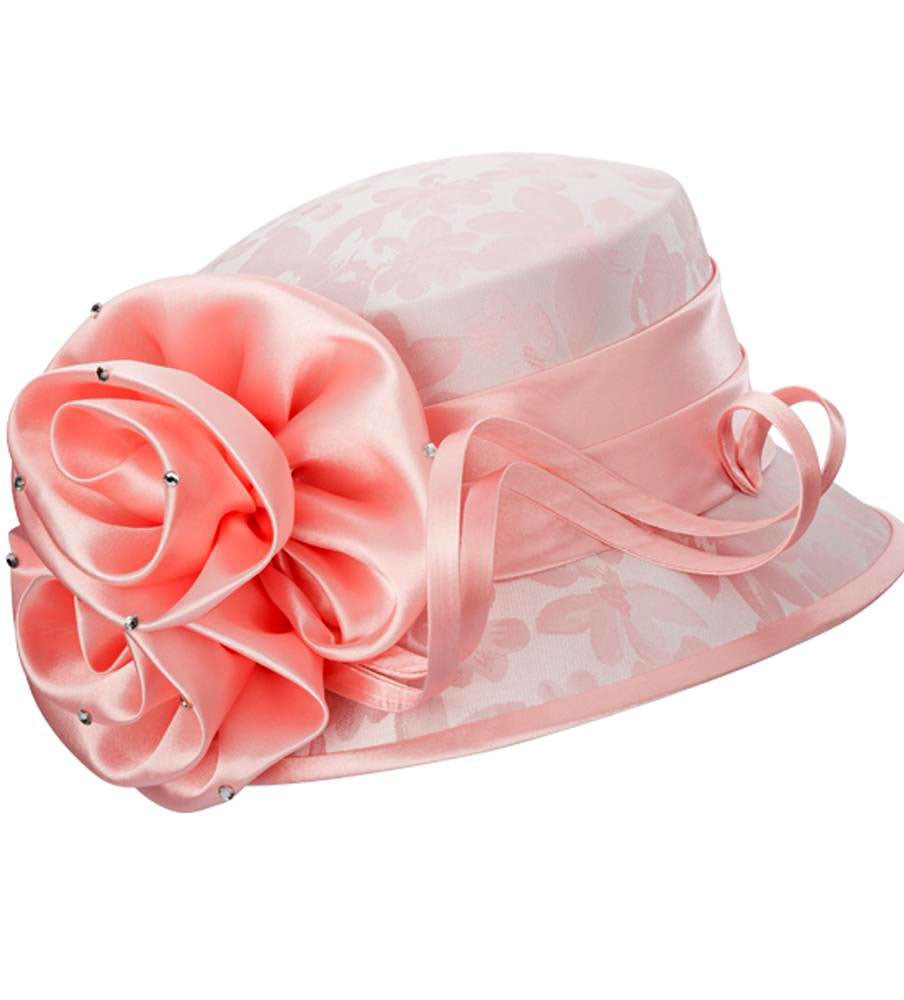 Giovanna Hat H0936-Pink - Church Suits For Less