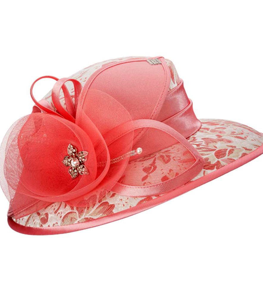Giovanna Hat H0937-Hot Pink - Church Suits For Less
