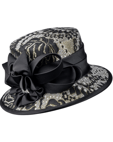 Giovanna Hat G1102-Black/Gold