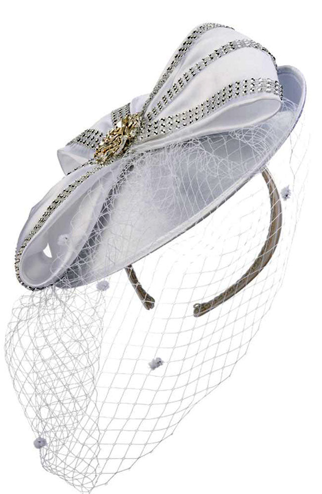 Giovanna Hat HM972-White - Church Suits For Less