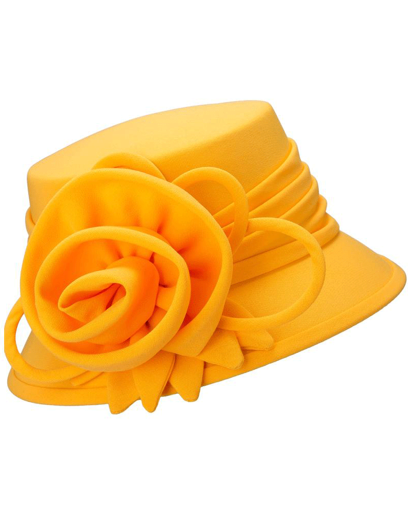 Giovanna Hat HW1007-Apricot - Church Suits For Less