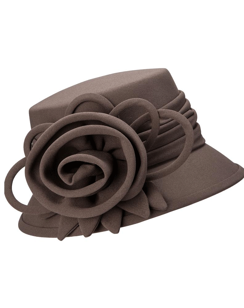 Giovanna Hat HW1007-Chocolate - Church Suits For Less