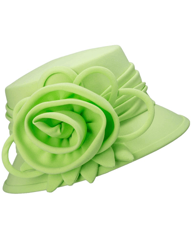 Giovanna Hat HW1007-Lime - Church Suits For Less