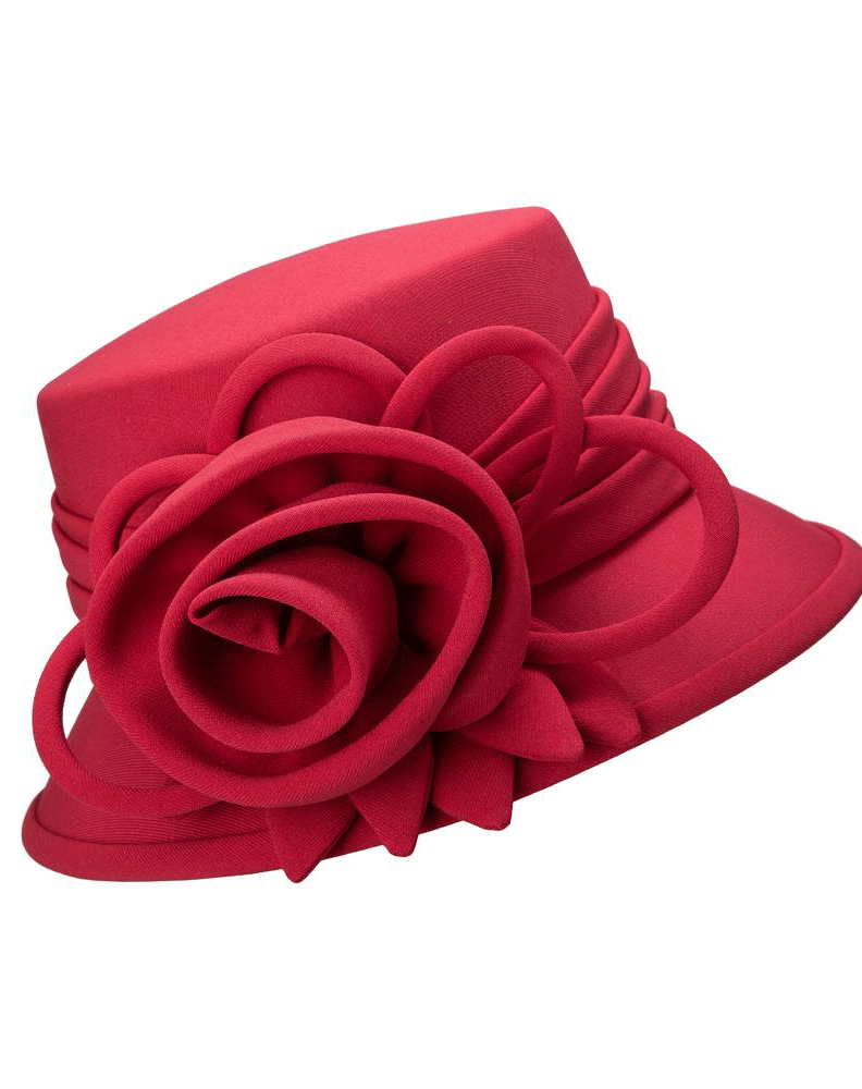 Giovanna Hat HW1007-Red - Church Suits For Less