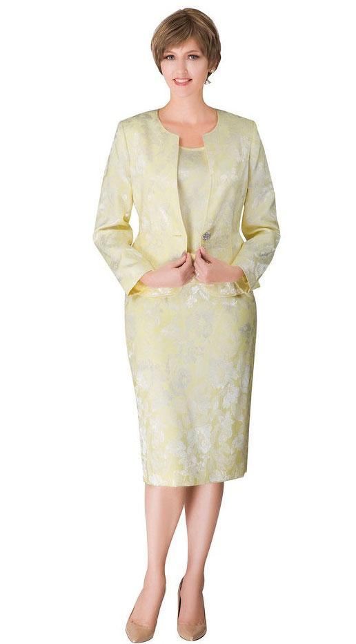 Giovanna Usher Suit S0713-Banana - Church Suits For Less
